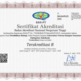 Prodi Pendidikan Biologi Raih Akreditasi B